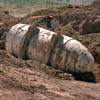 H-bomb casing at classified landfill.